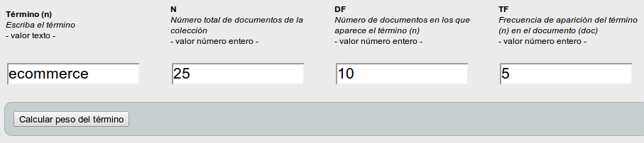 Tf-idf Term frequency – Inverse document frequency), frecuencia de término – frecuencia inversa de documento
